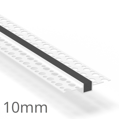 10mm PVC Rustication Profile - Render Groove Bead - 3m Length