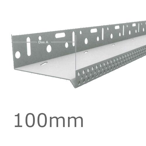 100mm Aluminium Vented Base Track.