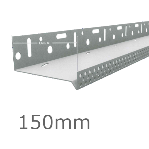 150mm Aluminium Vented Base Track.