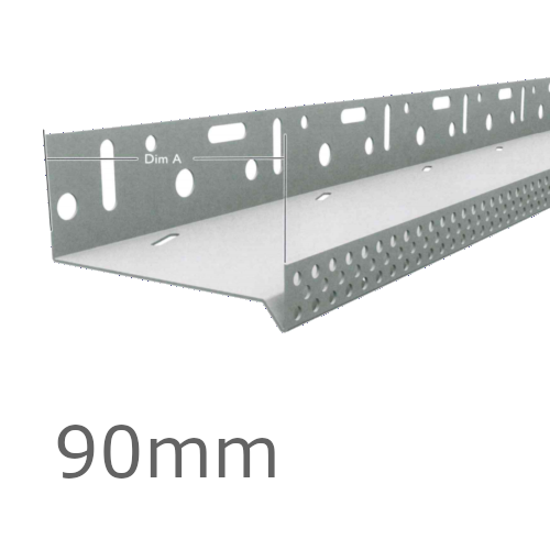 90mm Aluminium Vented Base Track.