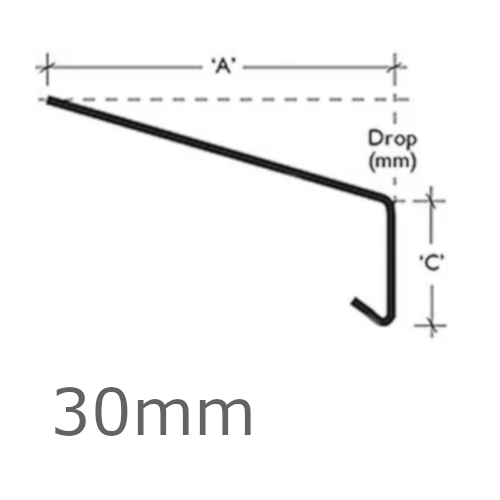 30mm Aluminium Window Sill Extensions WEC 761 (with full end caps - pair) - 2.5m Length.