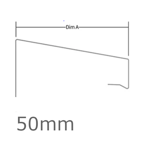 50mm WEC 771 OverTrim Profile - 2.5m length