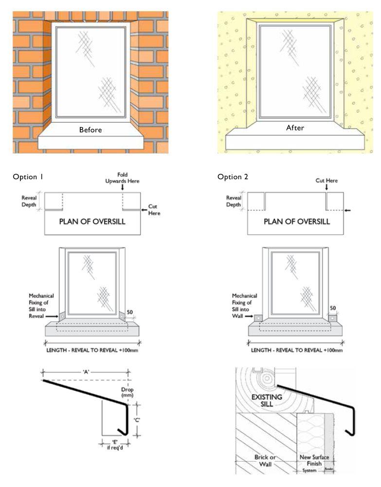 Custom Cut Oversill And Window Sill Flashing With Full