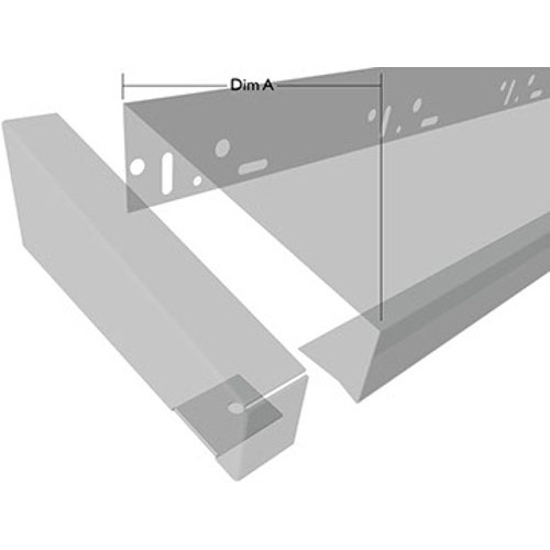 50mm WEC End Cap for Verge Trim Profiles