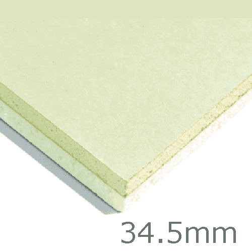 34.5mm Xtratherm XT/TL Thermal Liner Dot and Dab (25mm PIR Insulation bonded to 9.5mm Plasterboard)