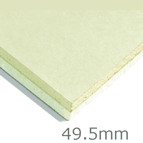 49.5mm Xtratherm XT/TL Thermal Liner Dot and Dab (40mm PIR Insulation bonded to 9.5mm Plasterboard)