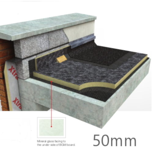 50mm Flat Roof Insulation Board Xtratherm FR-BGM (pack of 10)
