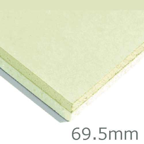 69.5mm Xtratherm XT/TL Thermal Liner Dot and Dab (60mm PIR Insulation bonded to 9.5mm Plasterboard)