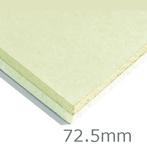 72.5mm Xtratherm XT/TL Thermal Liner Dot and Dab (60mm PIR Insulation bonded to 12.5mm Plasterboard)