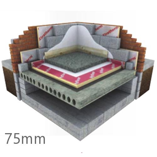 75mm Xtratherm Thin-R Hyfloor XT/HYF Under Floor PIR Insulation Board - Pack of 4