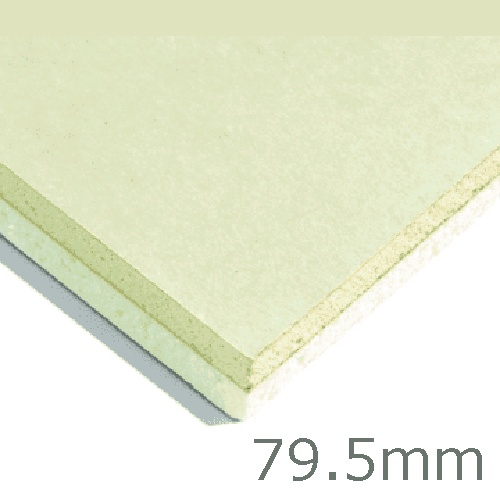 79.5mm Xtratherm XT/TL Thermal Liner Dot and Dab (70mm PIR Insulation bonded to 9.5mm Plasterboard)