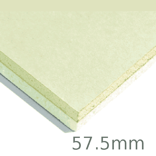 57.5mm Xtratherm XT/TL Thermal Liner Dot and Dab (45mm PIR Insulation bonded to 12.5mm Plasterboard)