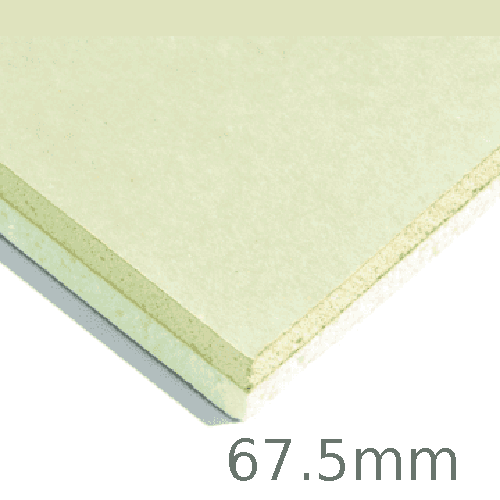 67.5mm Xtratherm XT/TL Thermal Liner Dot and Dab (55mm PIR Insulation bonded to 12.5mm Plasterboard)
