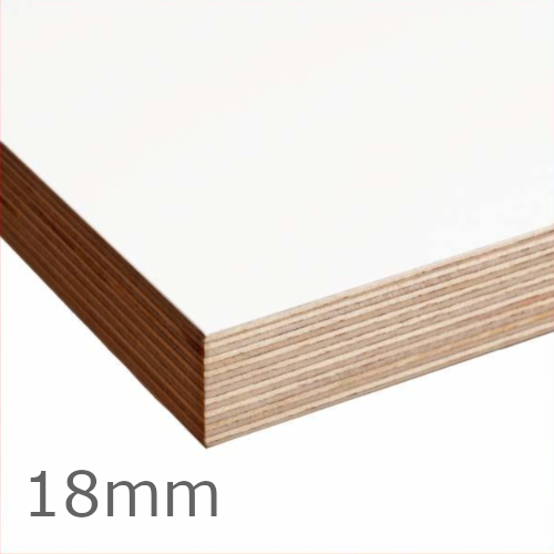 18mm Latvian Birch White Melamine Double Sided Grade A Plywood CE2+ - 2440mm x 1220mm - PEFC Certified