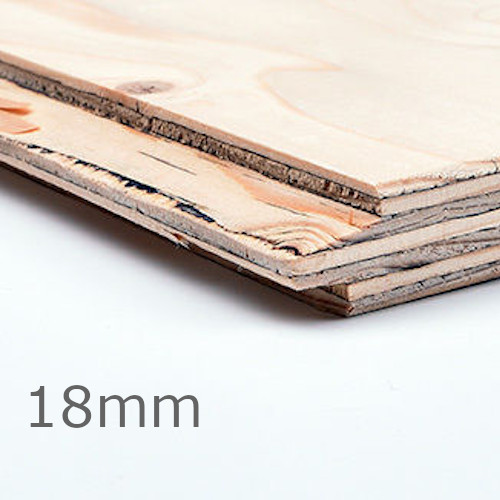 18mm Wisa Spruce TG2LE Plywood Special CE2+ - 2400mm x 1220mm - FSC Certified