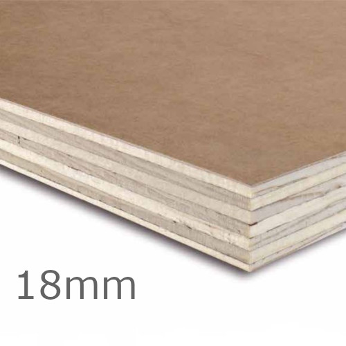 18mm Wisa Spruce Form MDO Plywood - 2440mm x 1220mm - For Concrete Formwork - FSC Certified