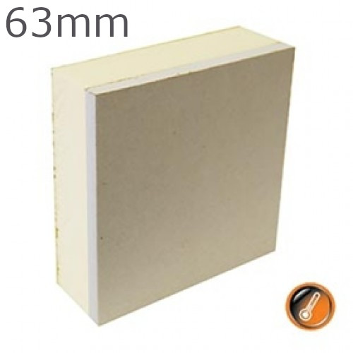63mm British Gypsum Gyproc Thermaline PIR Insulated Plasterboard