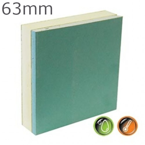 63mm British Gypsum Gyproc Thermaline PIR MR Insulated Plasterboard
