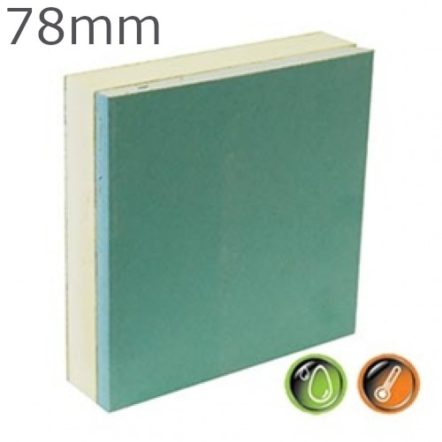 78mm British Gypsum Gyproc Thermaline PIR MR Insulated Plasterboard