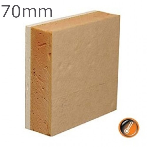 70mm Gyproc Thermaline Super Insulated Plasterboard (60.5mm Insulation + 9.5mm WallBoard)