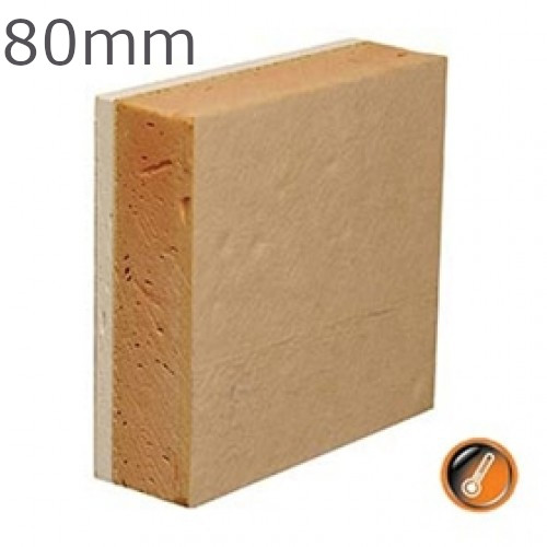 80mm Gyproc Thermaline Super Insulated Plasterboard (70.5mm Insulation + 9.5mm WallBoard)
