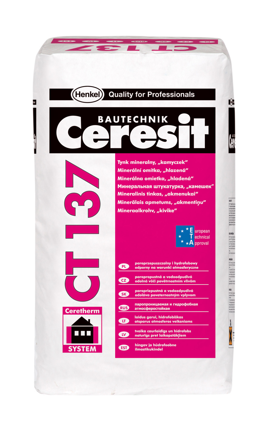 Ceresit CT137 Mineral Render 1.5 mm grain