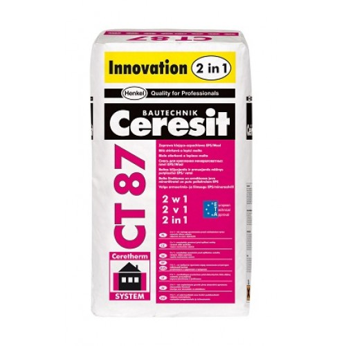 Ceresit CT87 White Adhesive-Filler Mortar '2 in 1' - Pallet of 48 bags