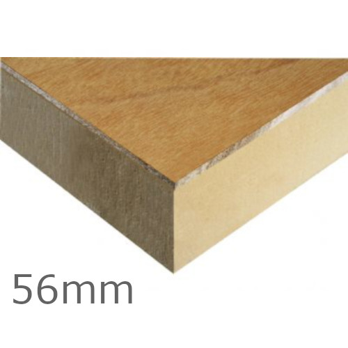 56mm Kingspan Thermaroof TR31 PIR bonded to Plywood (pack of 20)