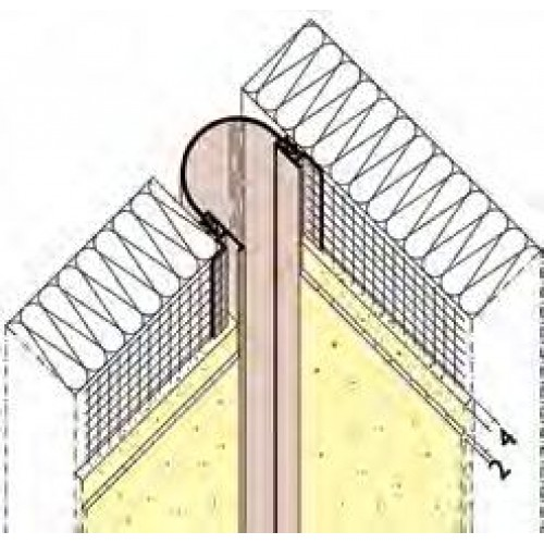 Mm corner expansion joint profile pvc pack of